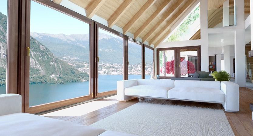 Villa di lusso open space in vendita sul lago di lugano for Piani di lusso open space